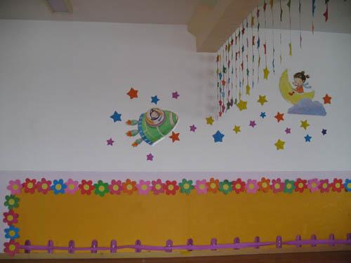 老师发挥创意,对教室进行装饰,动手设计制作,符合本班特色的风格.